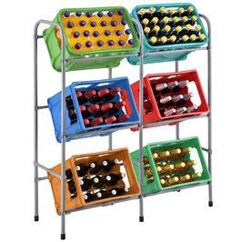 Getränkekistenhalter für sechs Kisten