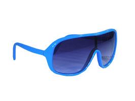 Vollrandsonnenbrille mit Monoscheibe im Millionaires Style in blau