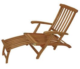 Gartenliege Liege Deckchair verstellbar Holz