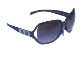Stilvolle Sonnenbrille mit Schmuckbügeln und Verlaufsgläsern in braun