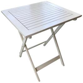Gartentisch Bistrotisch in weiß 60 x 60 cm