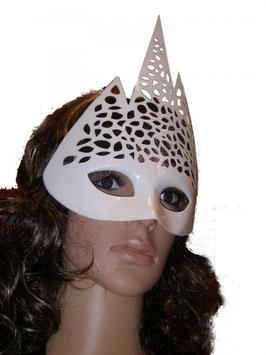 Venezianische Maske in weiß