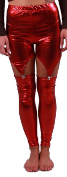 Leggings in Glanzoptik in rot gold oder silber
