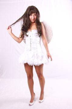 Weißer Engel mit Flügeln Größe 32