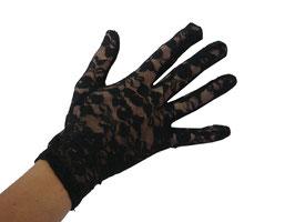 Edle Spitzen Handschuhe im floralen Design in schwarz