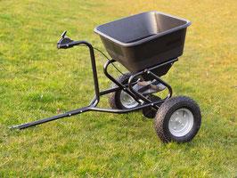 Streuanhänger Streuwagen Streuer für den Garten 54 Liter Fassungsvermögen