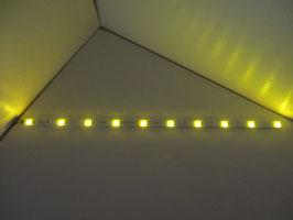LED Waggonbeleuchtung aus Aluminium 285mm gelb dimmbar mit Anschlusskabel