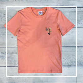 Johnny Romance Embroidery T-Shirt Coral