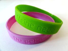 SET: 2 Armbänder (grün & lila)
