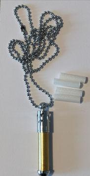 Aromaanhänger Rohling chrom oder goldfarben
