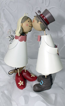 Knutschiges Brautpaar