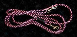 Hundeflechtleine Pink/Schwarz