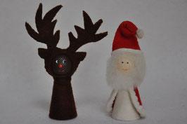 Kegel Kerstman en Rendier