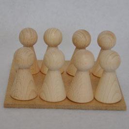 Speelbordje en kegeltjes Boter-Kaas-en-Eieren