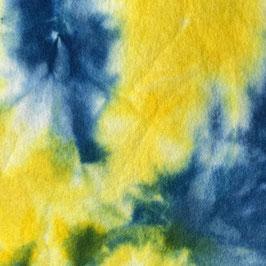 Sprookjesvilt Donker blauw/geel/wit
