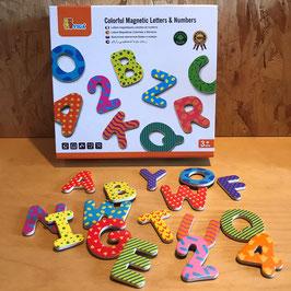 Magnetische cijfers en hoofdletters