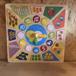 Puzzel klok vierkant