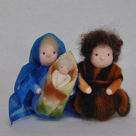 Jozef, Maria en kindje Jezus