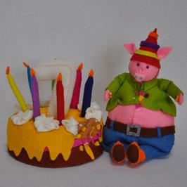 Alle dieren leren tellen: Vic Varken telt 7 verjaardagskaarsjes