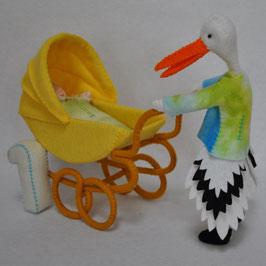 Alle dieren leren tellen: Olga Ooievaar telt 1 baby'tje