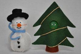 Kegel Sneeuwpop en Kerstboom