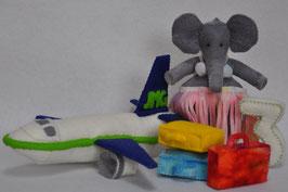 Alle dieren leren tellen: Olivia Olifant telt 3 koffertjes