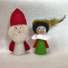 Vingerpopjes Sint en Piet