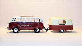 VW Bus T1 Samba mit Wohnanhänger