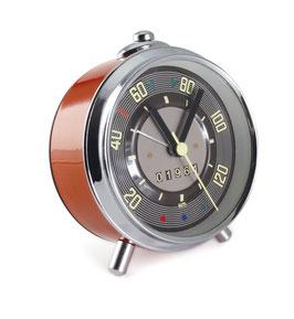 VW T1 BUS WECKER, Uhr IM TACHO DESIGN IN GESCHENKDOSE - ROT (BUSC01)