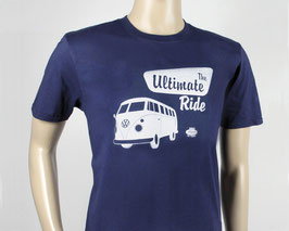 VW T1 BUS T-SHIRT UNISEX  - THE ULTIMATE RIDE/BLAU (BUTS04)