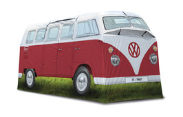 VW T1 BUS GROSSES CAMPINGZELT (4 PERS.) - ROT, (OL0179-RD)