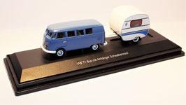 """Schuco H0, VW T1 mit Anhänger """"Schwalbennest"""""""