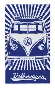 VW T1 BUS STRANDTUCH - BLAU  (BUBT02)