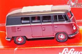 Schuco 1:64 VW T1 Bus (dunkelrot-schwarz)