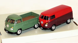 2er Set VW Bulli Bus & VW Bulli Pickup, 1 : 43