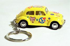 Schlüsselanhänger Modellauto VW Käfer Flower