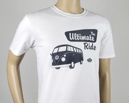 VW T1 BUS T-SHIRT - THE ULTIMATE RIDE/WEISS (BUTS05)