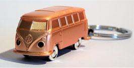 Schlüsselanhänger Modellauto Volkswagen-T1- Bus mit LED