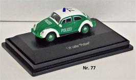 Schuco VW Käfer Dienstfahrzeug Polizei 1:87