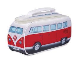 VW T1 Bus Brotzeittasche,kleine Kühltasche - rot (OL0175-RD)+ 2 kl. Kühlakkus