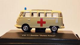 Schuco VW T1 Samba, Rotes Kreuz, 1:87