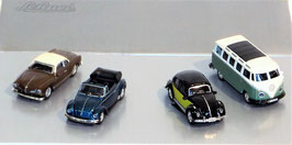 4er Set VW Ghia, Käfer, Bulli, Schuco 1:87