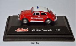 Schuco Käfer Dienstwagen Feuerwehr 1:87