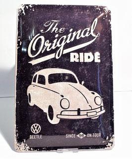 Blechschild, The Original Ride, Käfer 20 x 30 cm