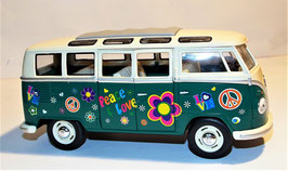 Volkswagen Classical Bus T1 ,Peace Love 1962, 1:24 (KT7005)