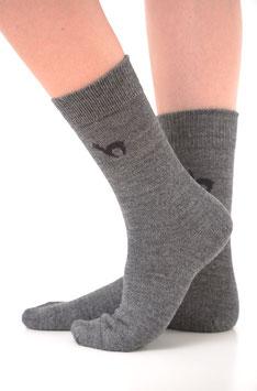 Alpaka-Socken Hellgrau