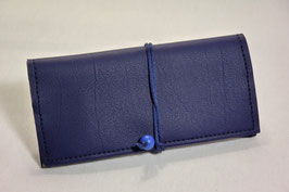 Tabaktasche aus Kunstleder - blau/lavendel