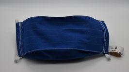 Maske Gr. L Blau mit Kreidestreifen