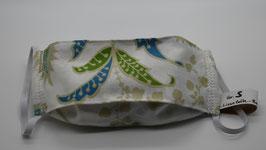 Maske Gr. S Cremeweiß mit floralen Ornamenten