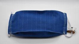 Maske Gr. M Blau mit Kreidestreifen